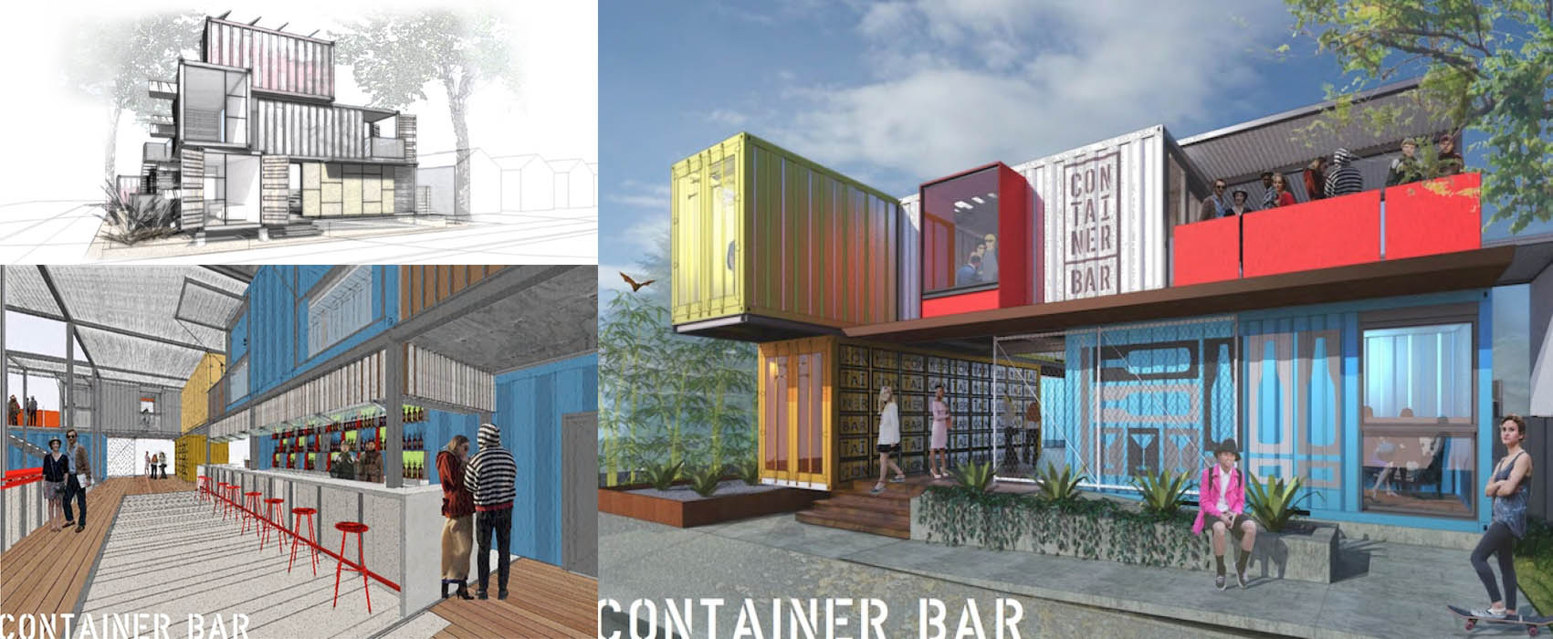 progetto del Container Bar